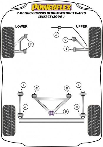 7 Metric Chassis DeDion without Watts Linkage (2006 on)