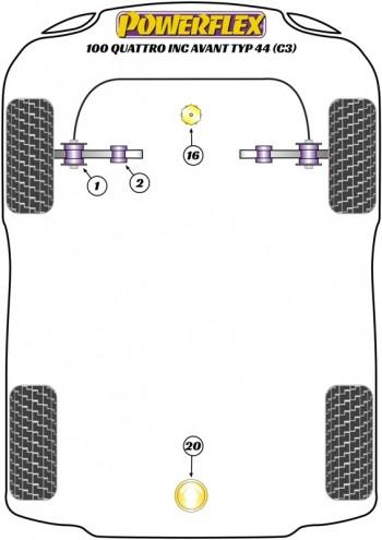 100 Quattro inc Avant Typ 44 (C3) (10/84-11/90)