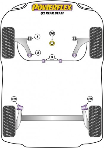 Q2 2WD REAR BEAM