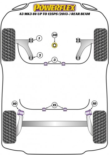 A3 MK3 8V up to 125PS (2013-) Rear Beam