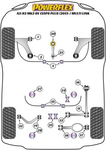 A3/S3 MK3 8V 125PS plus (2013-) Multi Link