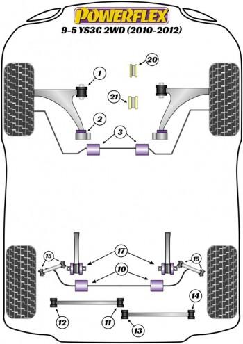 9-5 YS3G 2WD (2010 - 2012)