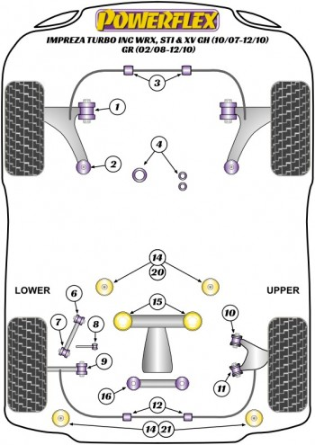Impreza Turbo inc. WRX, STi & XV GH (10/07-12/10) GR (02/08-12/10)